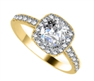 Image for Modern Round Diamond Single Halo Ring