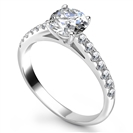 Shoulder Set Diamond Engagement Ring
