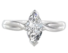 Image for Marquise Diamond Infinity Twist Engagement Ring