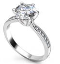 0.70CT SI1/H Round Diamond Ring