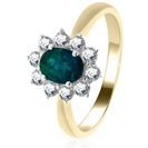 Image for 1.40ct Emerald & Diamond Engagement Ring