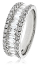 Image for Round & Baguette Diamond Mulit Row Dress Ring