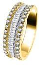 Image for 1.50CT Round & Baguette Diamond Mulit Row Dress Ring