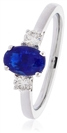 Image for Blue Sapphire & Diamond Trilogy Ring