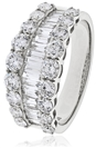 Image for Round & Baguette Diamond Multi Row Dress Ring