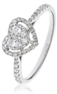 Image for 0.45CT Modern Heart Shaped Round Diamond Cluster Ring