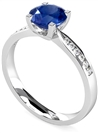 Image for Round Blue Sapphire & Diamond Ring