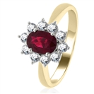 Image for 1.60ct Ruby & Diamond Cluster Ring