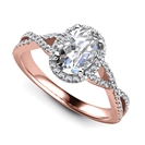 Image for Oval Diamond Single Halo Infinity Style Ring