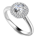 Image for Double Halo Round Diamond Engagement Ring