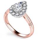 Image for Pear Diamond Milgrain Set Designer Ring