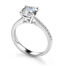 Image for Round Diamond Shoulder Set Diamond Engagement Ring