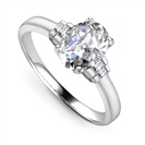 Modern Oval & Baguette Diamond Designer Ring