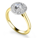 Image for Round Diamond Single Halo Ring