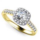 Image for Single Halo Round Diamond Ring