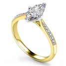 Image for Marquise Diamond Shoulder Set Ring