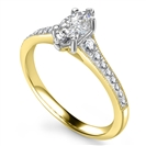 Image for Marquise Diamond Milgrain Shoulder Set Ring