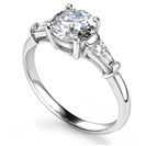 0.60CT SI2/G Round Diamond Trilogy Ring