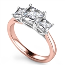 Image for Elegant Princess Diamond Trilogy Ring