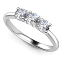 2.00CT I1/FG Round Diamond Trilogy Ring
