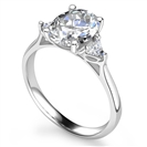 Image for Oval & Trillian Diamond Trilogy Ring