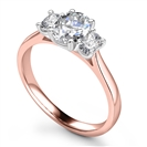 Image for Elegant Oval Diamond Trilogy Ring