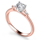 Image for Modern Heart & Tapered Baguette Diamond Trilogy Ring