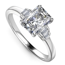 Image for Modern Radiant & Baguette Diamond Designer Ring