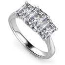 Graduated Radiant Diamond Trilogy Ring