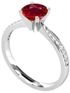 Image for Round Ruby & Diamond Halo Ring