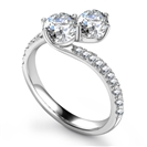 Image for Two Stone Round Diamond Designer Ring