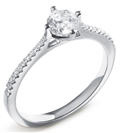 Image for Round Compass Shoulder Set Diamond Ring