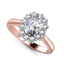 Image for Oval Diamond Cluster Ring