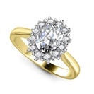 Image for Oval Diamond Halo Ring