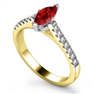 Image for Ruby & Diamond Shoulder Set Ring