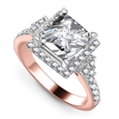 Image for Princess Diamond Single Halo Designer Ring