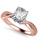 Image for Modern Intertwined Cushion Diamond Engagement Ring