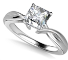 Image for Modern Intertwined Princess Diamond Engagement Ring