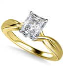 Image for Modern Intertwined Radiant Diamond Engagement Ring