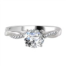Infinity Round Shoulder Set Diamond Engagement Ring