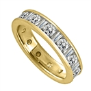 Image for 2.00ct Round & Baguette Diamond Full Eternity Ring