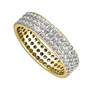 Image for 1.25CT Triple Row Round Diamond Full Eternity Ring