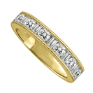 Image for 1.00CT Milgrain Round & Baguette Diamond Eternity Ring
