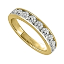 1.00CT VS/EF Round Diamond Eternity Ring