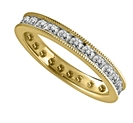 Image for 1.50CT Milgrain Round Diamond Eternity Ring