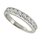 Image for 3.5mm Round Diamond Half Eternity Ring