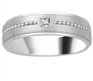 Image for 6.5mm Mens Princess & Round Diamond Ring