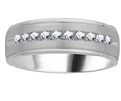 7mm Mens Round Diamond Ring