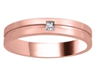 Image for 4mm Mens Princess Diamond Ring