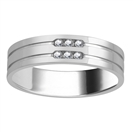 5.5mm Mens Round Diamond Ring